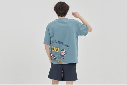 ROMANTIC CROWN More T-Shirts Unisex Street Style Cotton Short Sleeves Oversized Logo 14