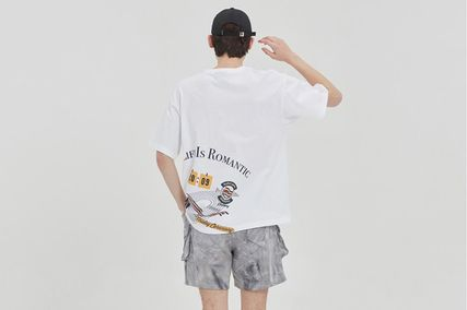 ROMANTIC CROWN More T-Shirts Unisex Street Style Cotton Short Sleeves Oversized Logo 20
