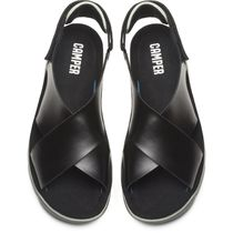 CAMPER Open Toe Casual Style Unisex Street Style Plain Leather