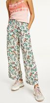 Tommy Hilfiger Printed Pants Flower Patterns Tropical Patterns Casual Style