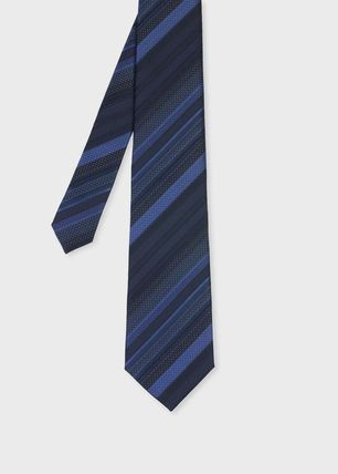 Paul Smith Stripes Flower Patterns Silk Ties