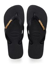 havaianas Camouflage Open Toe Rubber Sole Casual Style Plain