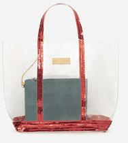 vanessabruno Casual Style Crystal Clear Bags PVC Clothing Totes