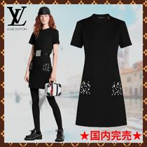 Louis Vuitton Short Casual Style Logo Dresses