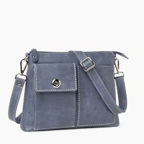 Roots Casual Style Unisex Plain Leather Crossbody Icy Color