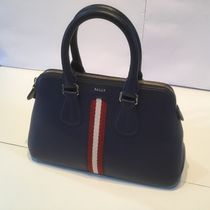 BALLY Stripes Casual Style 2WAY Plain Leather Party Style