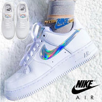 Nike AIR FORCE 1 Unisex Street Style Leather Logo Low-Top Sneakers