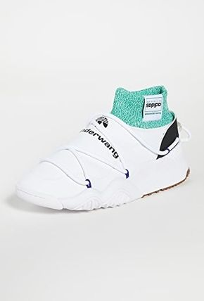 Sock Sneakers Logo Unisex Collaboration Leather Street Style