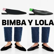 bimba & lola Plain Leather Pointed Toe Shoes