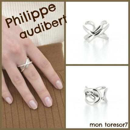 Casual Style Cross Silver Elegant Style Rings
