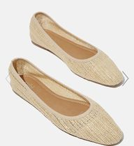 Cotton on Square Toe Round Toe Casual Style Plain Flats