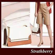 STRATHBERRY Casual Style 2WAY Plain Leather Party Style Elegant Style