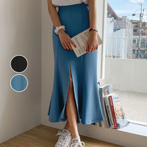 Pencil Skirts Flared Skirts Casual Style Plain Long