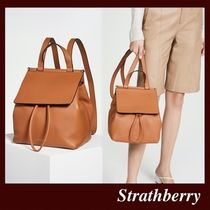 STRATHBERRY Casual Style Calfskin Plain Leather Elegant Style