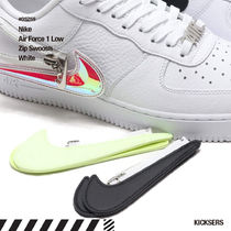 Nike AIR FORCE 1 Unisex Blended Fabrics Street Style Plain Logo Sneakers