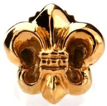 CHROME HEARTS BS FLARE Flower Patterns Unisex Studded Street Style 22K Gold