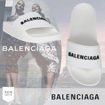 BALENCIAGA Open Toe Rubber Sole Casual Style Plain Shower Shoes