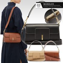 WANDLER Casual Style 2WAY Plain Leather Elegant Style Shoulder Bags