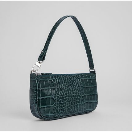 Casual Style Crocodile Plain Leather Party Style