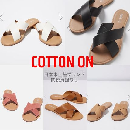 Open Toe Casual Style Faux Fur Plain Flip Flops Mules