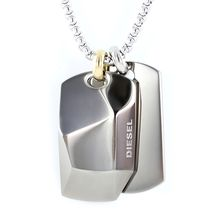 DIESEL Unisex Street Style Stainless Necklaces & Chokers