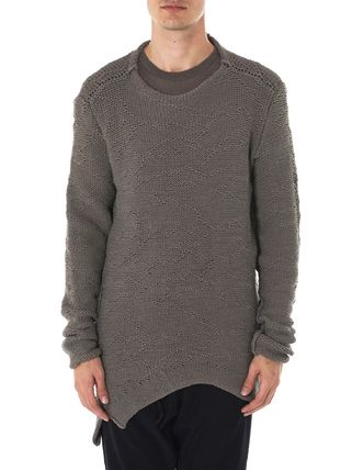 Crew Neck Linen Long Sleeves Plain Cotton Sweaters