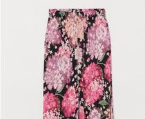H&M Flower Patterns Casual Style Long Elegant Style Pants
