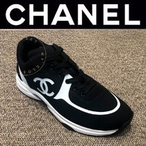 CHANEL SPORTS Blended Fabrics Street Style Logo Sneakers