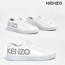 KENZO Leather Logo Low-Top Sneakers
