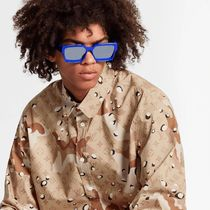 Louis Vuitton Camouflage Long Sleeves Cotton Logo Front Button Shirts