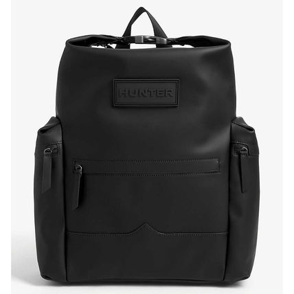 Casual Style Unisex Street Style Plain Leather Office Style