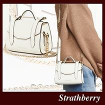 STRATHBERRY Casual Style Calfskin 2WAY Plain Leather Party Style