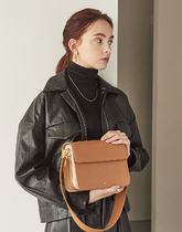 hoze Casual Style Calfskin Street Style Plain Leather