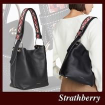STRATHBERRY Casual Style 2WAY Plain Leather Office Style Elegant Style