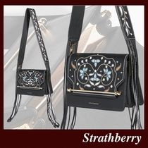 STRATHBERRY Flower Patterns Casual Style Tassel 2WAY Leather