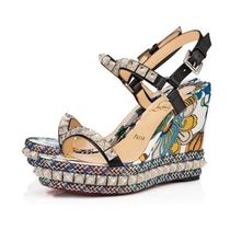 Christian Louboutin Flower Patterns Tropical Patterns Open Toe Casual Style