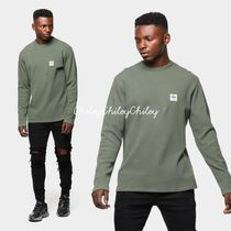 STUSSY Crew Neck Street Style Long Sleeves Plain Cotton