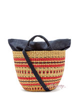 MUUN Canvas 2WAY Plain Handmade Straw Bags