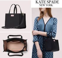 kate spade new york Casual Style Nylon Street Style 2WAY Plain Office Style