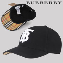 Burberry Unisex Blended Fabrics Street Style Caps