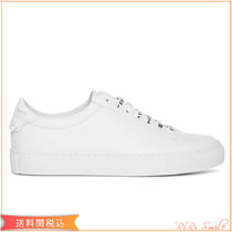 GIVENCHY Unisex Plain Leather Logo Low-Top Sneakers