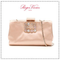 Roger Vivier Flower Patterns Casual Style Calfskin 2WAY Plain Leather
