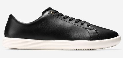 Plain Leather Low-Top Sneakers