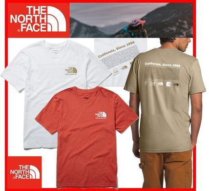 THE NORTH FACE More T-Shirts Unisex Street Style Cotton Short Sleeves Outdoor T-Shirts