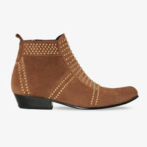 ANINE BING Cowboy Boots Casual Style Suede Blended Fabrics Studded
