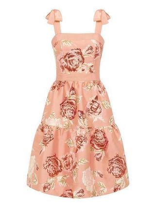 Crew Neck Flower Patterns Casual Style Sleeveless Flared