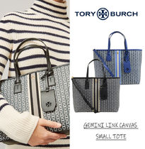 Tory Burch GEMINI LINK Gingham Other Plaid Patterns Casual Style Unisex Nylon A4