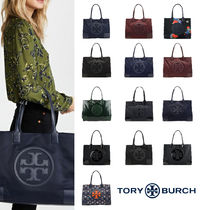 Tory Burch ELLA TOTE Flower Patterns Paisley Tropical Patterns Casual Style