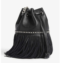 J & M Davidson Carnival Casual Style Chain Leather Purses Fringes Bucket Bags
