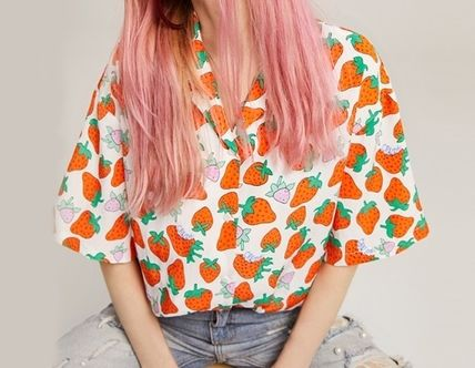 Tropical Patterns Casual Style Street Style Medium